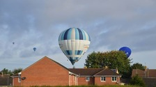 Some residents got an upclose view of the balloons.