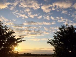 Dawn in Suffolk.