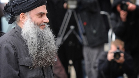 Abu Qatada pictured arriving home in November