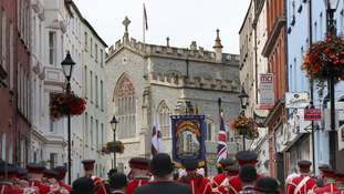 Annual Apprentice Boys parade held in Londonderry