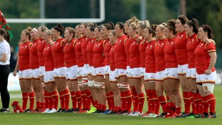 The Welsh team ahead of their match against New Zealand