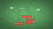 Extra police patrols after four knife-point robberies in Colchester