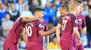 Premier League: Aguero on target as Man City beat new boys Brighton