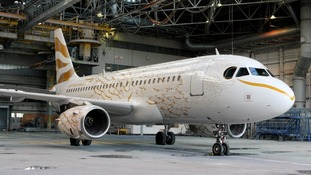 The newly designed aircraft was unveiled at Heathrow Airport.