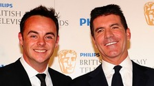 Ant (left) with Simon Cowell.