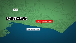 A man was found lying in the road in Southend.