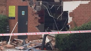 The cashpoint was ripped from the wall