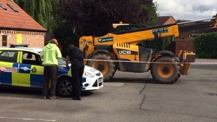 A telehandler digger was used to steal the ATM in Cotgrave