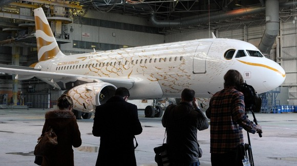 The design was revealed to the media at Heathrow Airport.