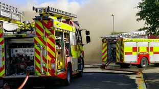 Crews tackling fire in Haverhill