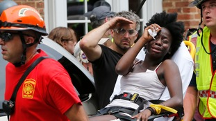 At least 19 people were injured by a hit-and-run driver in Charlottesville