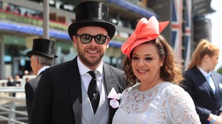 Ant with his wife Lisa at Royal Ascot last year.