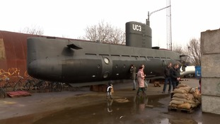 The 40-tonne submarine before it sank off the Danish coast.