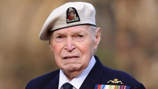 Arctic convoy veteran Commander Eddie Grenfell, 91, from Portsmouth.