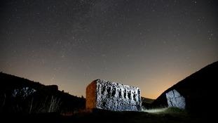 The Perseid meteor shower seen in Bosnia.