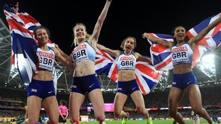 GB's women secured silver in the 4x400m relay.