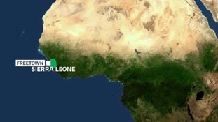 The mudslide occurred near the west African nation's capital Freetown.