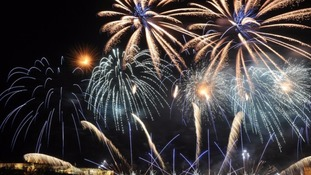 The Hogmanay fireworks display took place every 31 December