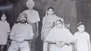 Nina's mother Gurdev Kaur Nannar (back, centre) as a girl in India.