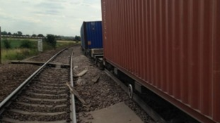 No one was injured when the Freight Train derailed