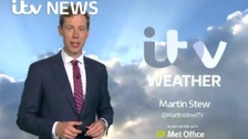 Martin Stew has the latest weather forecast