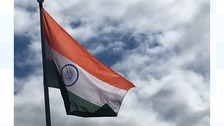 India's flag raised to mark 70 years of independence