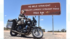 Kane Avellano is the youngest person to circumnavigate the globe on a motorcycle