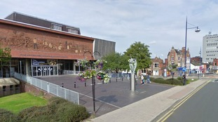 Police are looking at CCTV footage from around the Potteries Museum in Stoke