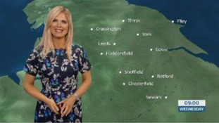 Morning weather forecast with Jo Blythe