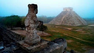 The Mayan temple of Kukulkan in Chichen Itza, Mexico