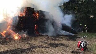 Fire crews continue to battle haystack fire