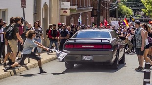 The car was driven into a group of protesters demonstrating against a white nationalist rally.
