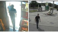 CCTV images at petrol station.