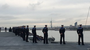 HMS Queen Elizabeth comes home to Portsmouth
