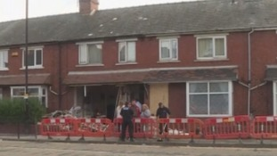 Suspected stolen car crashes into two houses in Middlesbrough following police pursuit.