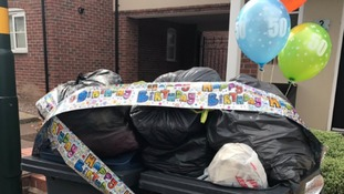 One resident celebrated 50 days since his rubbish was collected
