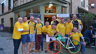 Some of the cyclists taking part in 'Club Together' 2017