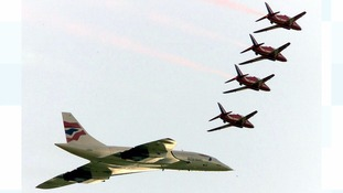 The Red Arrows will be flying over the Bristol Aerospace Museum at 2.37pm.