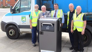 The Bigbelly bins can take up to eight times more waste