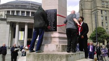 The 17 names were read out by John Henshaw followed by a minute's silence at 1pm, the time the attack began in 1819.