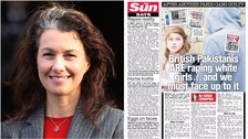 Sarah Champion and the article she wrote for The Sun