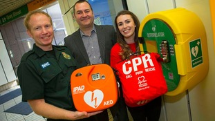 Two Metro stations fitted with life-saving defibrillators