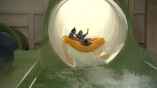 The Tropical Cyclone has been hailed as the largest water ride in Europe.