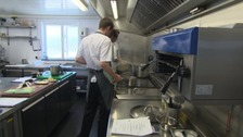 The kitchen of Restaurant Nathan Outlaw, which has ben named the best in the UK.