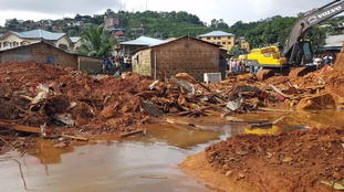 Freetown was devastated by a mudslide on Monday