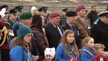WATCH: Falklands veteran partakes in special service