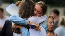 Teenagers find out A-level results
