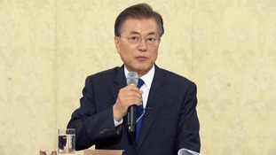 South Korean president says 'there will not be a war again' on peninsula