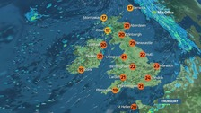 A day of sunshine and showers for many