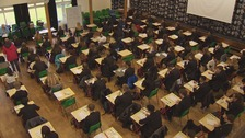 Thousands of students find out A level results